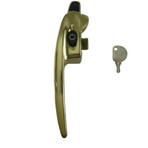 Titon Select Cockspur Window Handle Albrafin Gold Left Hand