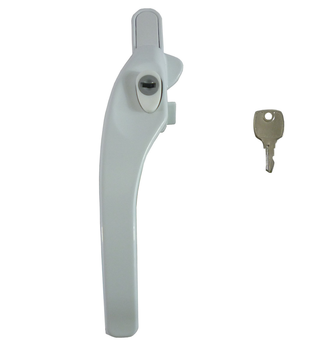 ERA White Cockspur UPVC Locking Window Handle Left Handed Casement Lock Stay