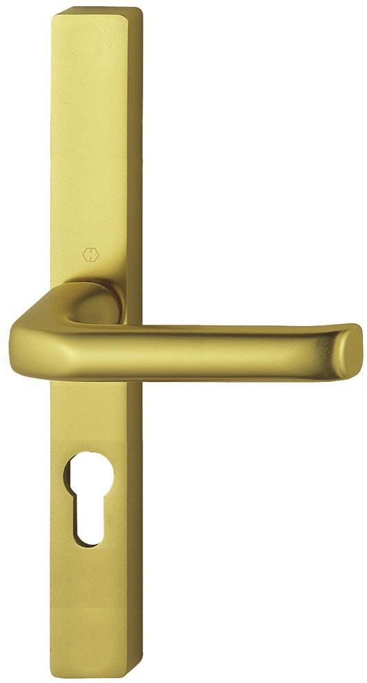 Hoppe F3 Matt Gold 48mm Centre Euro Profile Door Handle