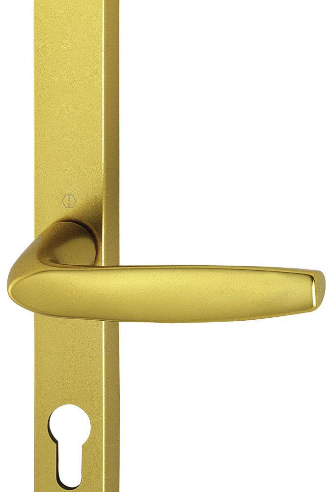 Hoppe Brugge F1 Matt Silver 68mm centre Euro Door Handle to suit Fullex Locks-0