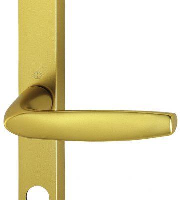 Hoppe Brugge F3 Matt Gold 68mm Centre Euro Door Handle To Suit Fullex Locks