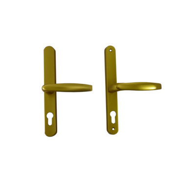 Hoppe Brugge F3 Matt Gold 68mm Centre Euro Door Handle To Suit Fullex Locks