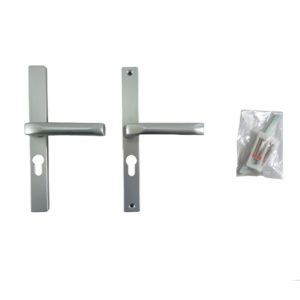 Hoppe F1 Matt Silver Handles 48mm Centre Euro Profile Door Handle