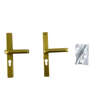 Hoppe F3 Matt Gold 48mm Centre Euro Profile Door Handle