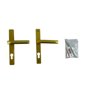Hoppe F3 Matt Gold 70mm Centre Door Handle