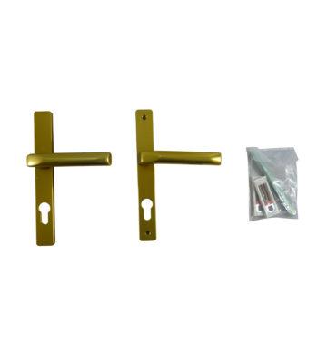 Hoppe F3 Matt Gold 70mm Centre Door Handle