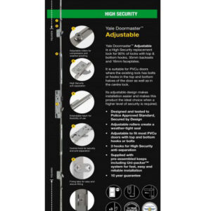 Yale Doormaster Adjustable 3Hook 2Roller 35/92 Repair Lock