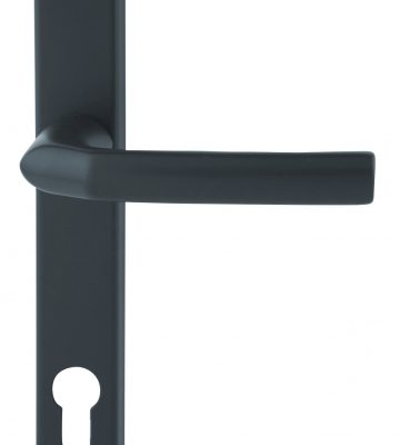 Hoppe Birmingham Long Backplate 3810N Black 92mm Centre Door Handle