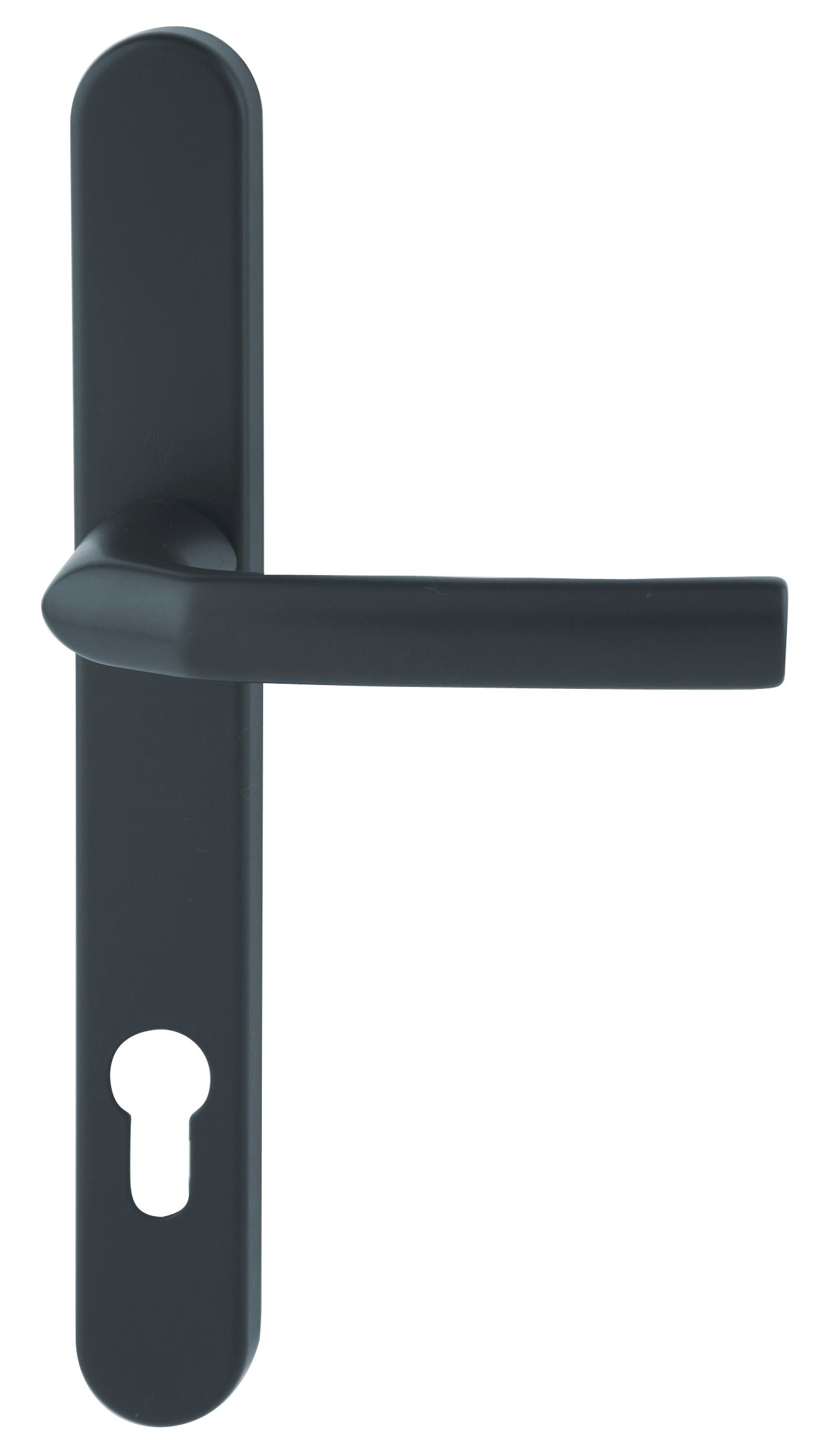 Hoppe Birmingham Long Backplate 3810N Black 92mm Centre Door Handle