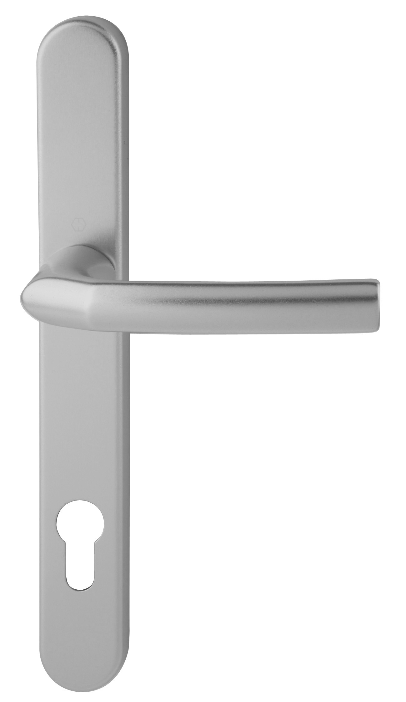 Hoppe Birmingham Short 3811N F1 Matt Silver 92mm Centre Door Handle
