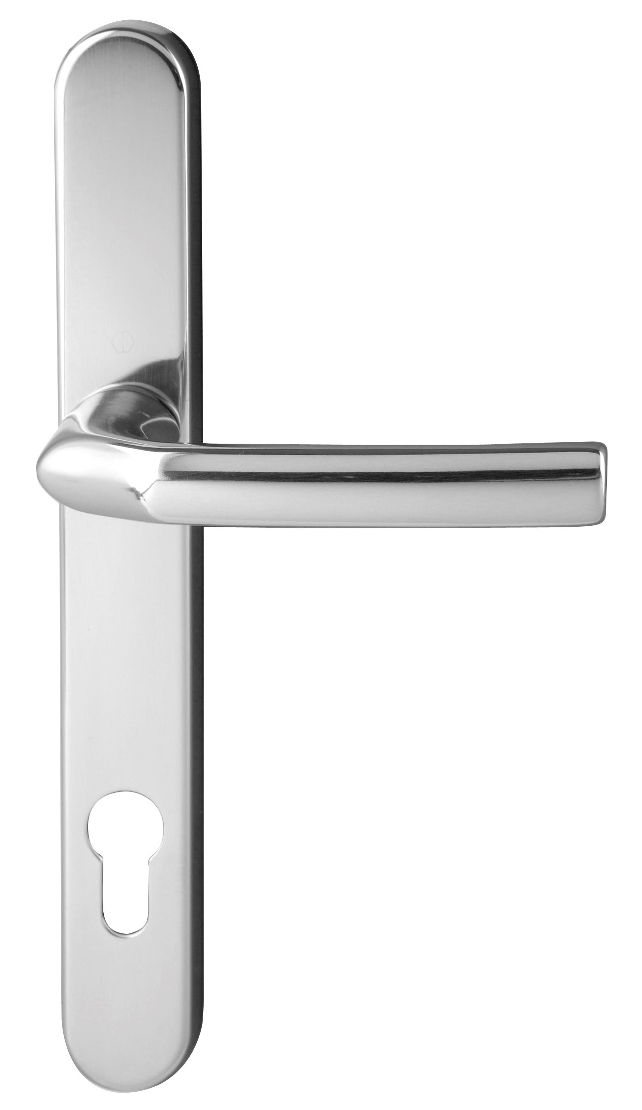 Hoppe Birmingham Short 3811N F249 Polished Chrome 92mm Centre Door Handle
