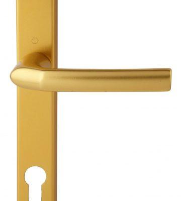 Hoppe Birmingham Short 3811N F3 Matt Gold 92mm Centre Door Handle