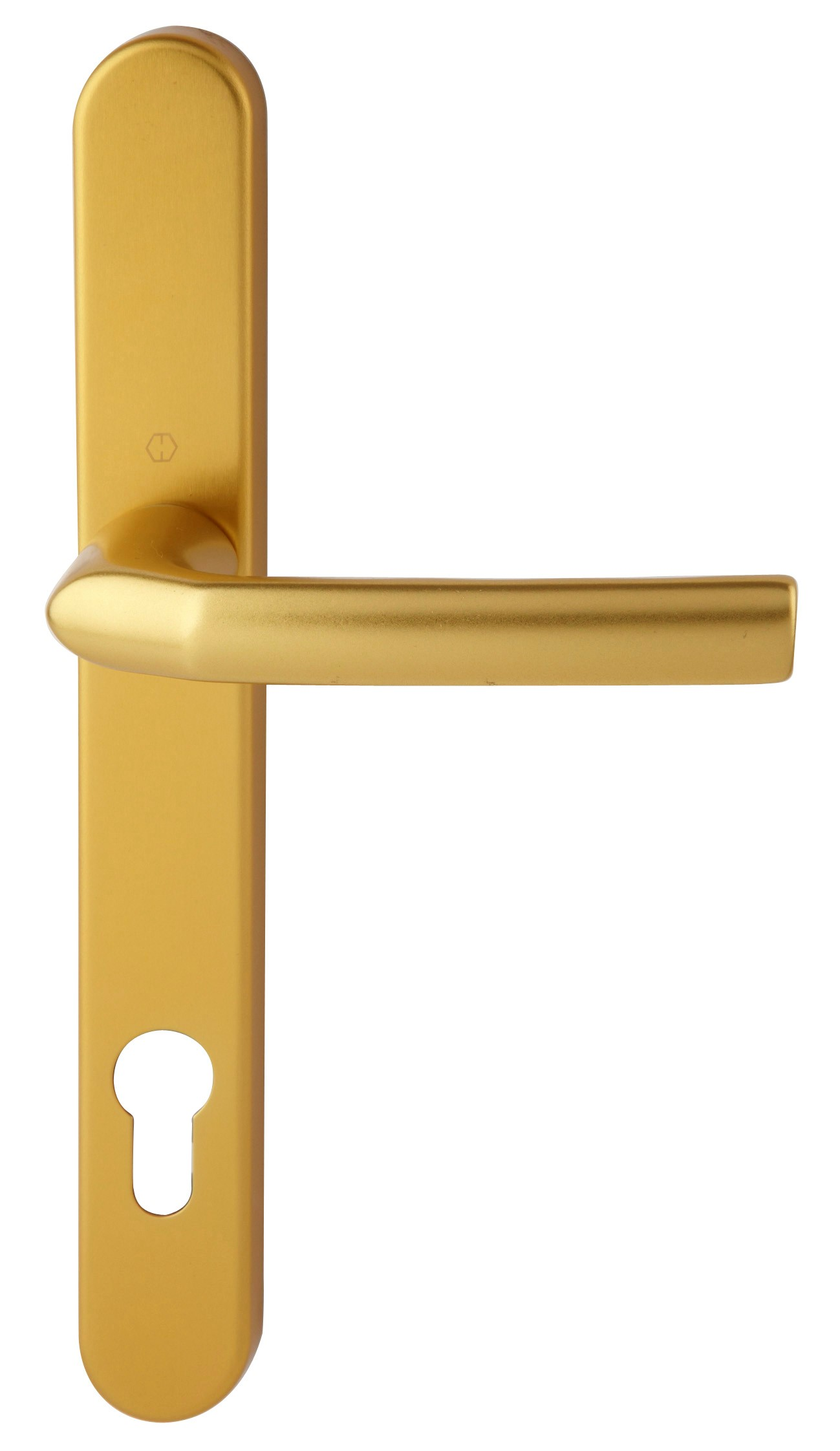 Hoppe Birmingham Short 3811N F3 Matt Gold 92mm Centre Door Handle
