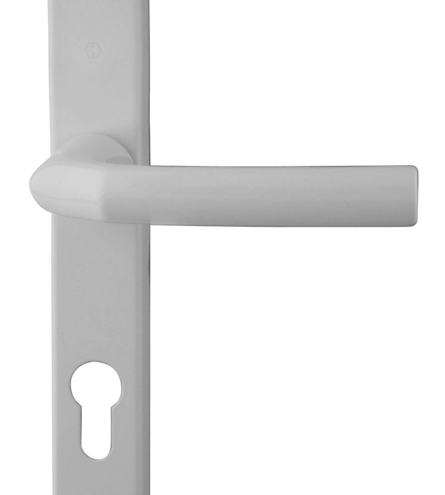 Hoppe Birmingham Short 3811N White 92mm centre Door Handle-0