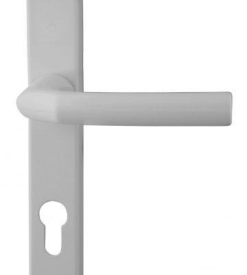 Hoppe Birmingham Long Backplate 3810N White 92mm Centre Door Handle