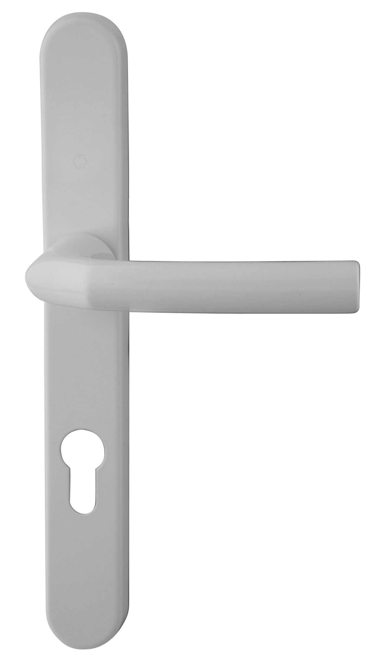 Hoppe Birmingham Long Backplate 3810N White 92mm Centre Door Handle