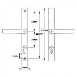 Hoppe White 70mm centre Door Handle-1886