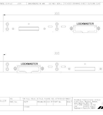 Lockmaster Hook & Roller Keepset Silver PLK42-19