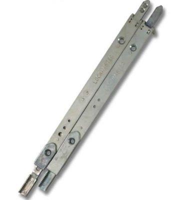 Lockmaster Top & Bottom Shootbolts Silver PLSB44-19