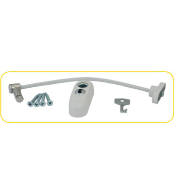 Max6mum Security Locking Window Restrictor White