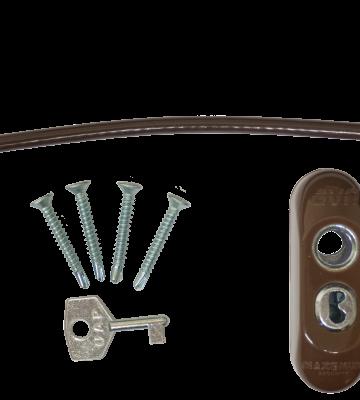 Max6mum Security Lockable Window Restrictor Brown