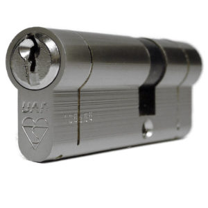 UAP Anti Snap 50/50 (100mm Overall) Euro Profile Nickle Cylinder Lock