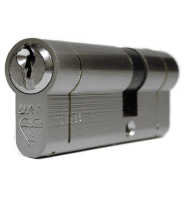 UAP Anti Snap Keyed Alike 45/50 (95mm Overall) Euro Profile Nickle Cylinder (pair)