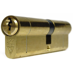 UAP Anti Snap Keyed Alike 50/50 (100MM Overall) Euro Profile Brass Cylinder (pair)