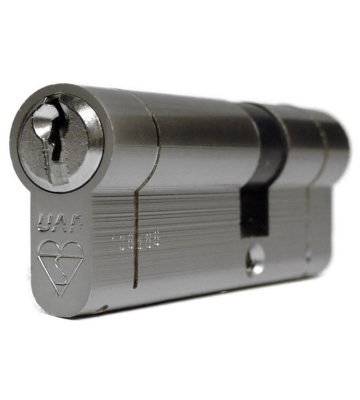 UAP Anti Snap Keyed Alike 50/50 (100mm Overall) Euro Profile Nickle Cylinder (pair)