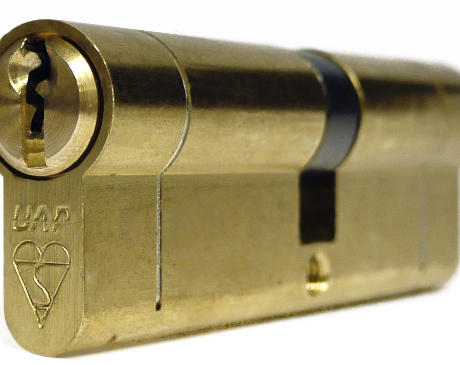 UAP Anti Snap Keyed Alike 50/50 (100MM Overall) Euro Profile Brass Cylinder (pair)-0