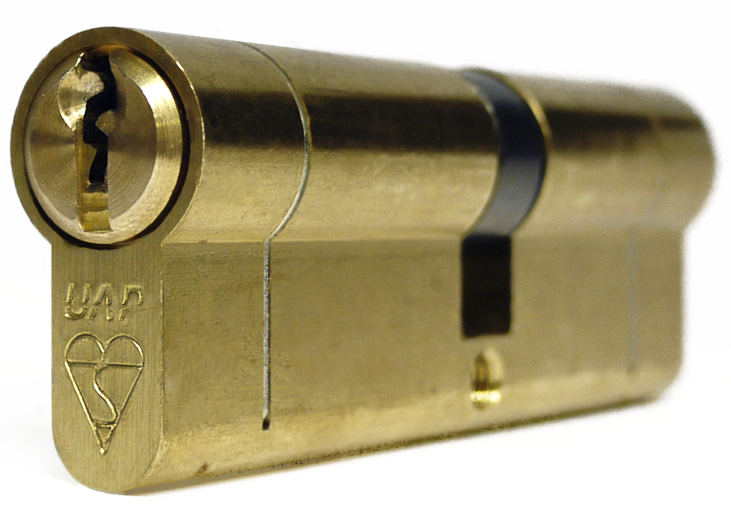 UAP Anti Snap Keyed Alike 45/50 (95mm Overall) Brass Euro Profile Cylinder (pair)