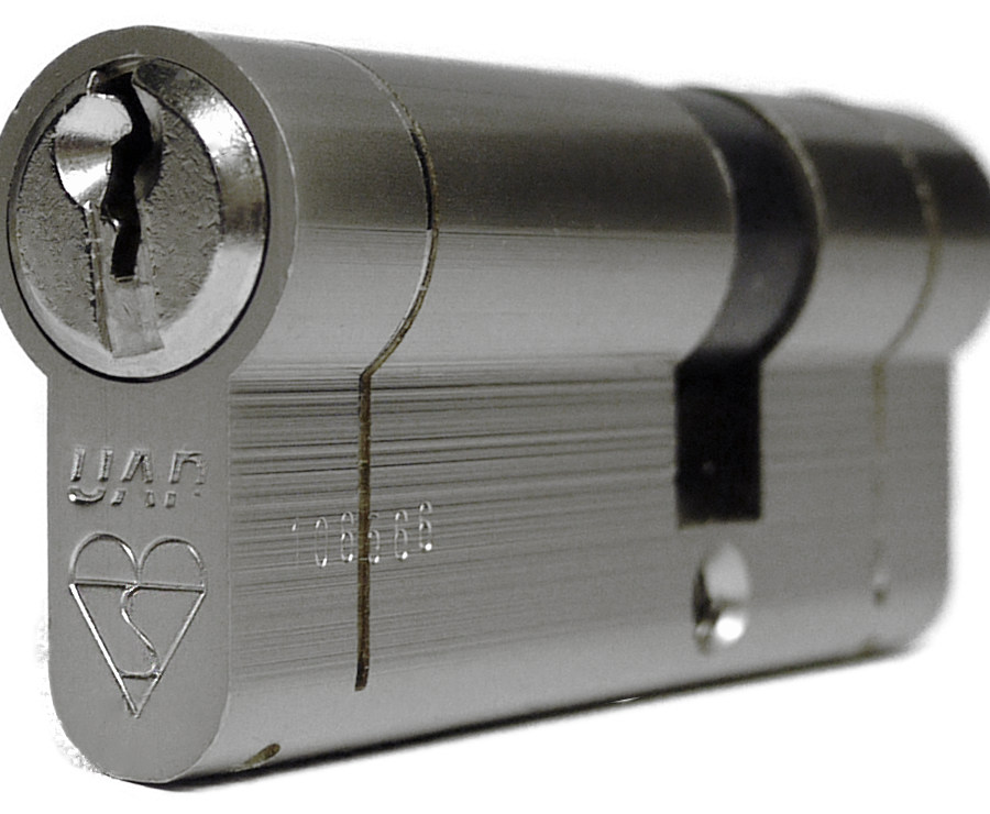 UAP Anti Snap 40/40 (80mm overall) Nickle Euro Profile Cylinder Lock-0