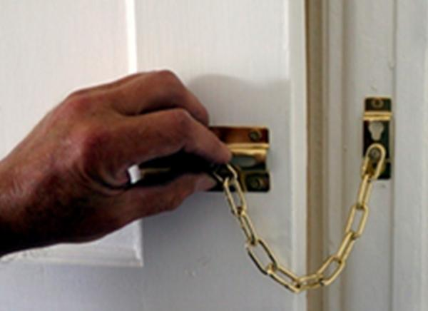 Max6mum security sliding door chain BRASS-627