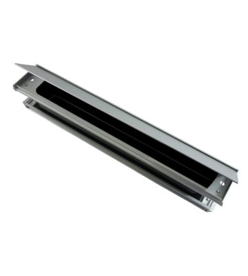 "Yale P203 Slimmaster 12"" Letterplate Silver Anodised"