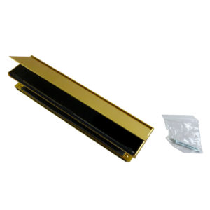 """Yale P209 12"""" Postmaster Letterplate Polished Gold 40/80"""