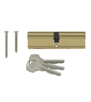 Yale 6 Pin Euro Profile Cylinder Lock Brass 35/55 (90mm) C/w 3 Keys