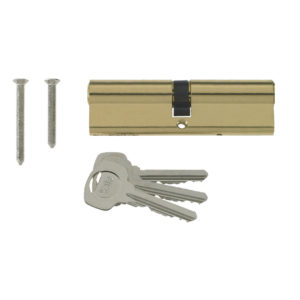 Yale 6 Pin Euro Profile Cylinder Lock Brass 40/45 (85mm) C/w 3 Keys