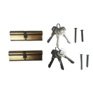 Yale 6 Pin Euro Profile Cylinder Lock Brass 40/60 (100mm) Keyed Alike In Pairs C/w 6 Keys