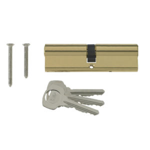 Yale 6 Pin Euro Profile Cylinder Lock Brass 40/60 (100mm) C/w 3 Keys