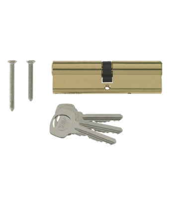 Yale 6 Pin Euro Profile Cylinder Lock Brass 45/45 (90mm) C/w 3 Keys