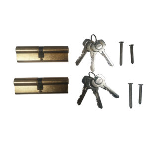 Yale 6 Pin Euro Profile Cylinder Lock Brass 45/55 (100mm) Keyed Alike In Pairs C/w 6 Keys