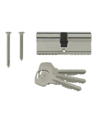 Yale 6 Pin Euro Profile Cylinder Lock Nickle 35/35 (70mm) C/w 3 Keys