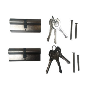 Yale 6 Pin Euro Profile Cylinder Lock Nickle 40/45 (85mm) Keyed Alike In Pairs C/w 6 Keys
