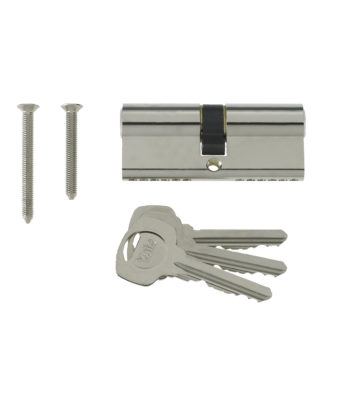 Yale 6 Pin Euro Profile Cylinder Lock Nickle 40/45 (85mm) C/w 3 Keys
