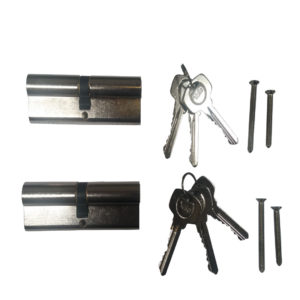 Yale 6 Pin Euro Profile Cylinder Lock Nickle 40/60 (100mm) Keyed Alike In Pairs C/w 6 Keys