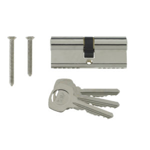 Yale 6 Pin Euro Profile Cylinder Lock Nickle 40/60 (100mm) C/w 3 Keys