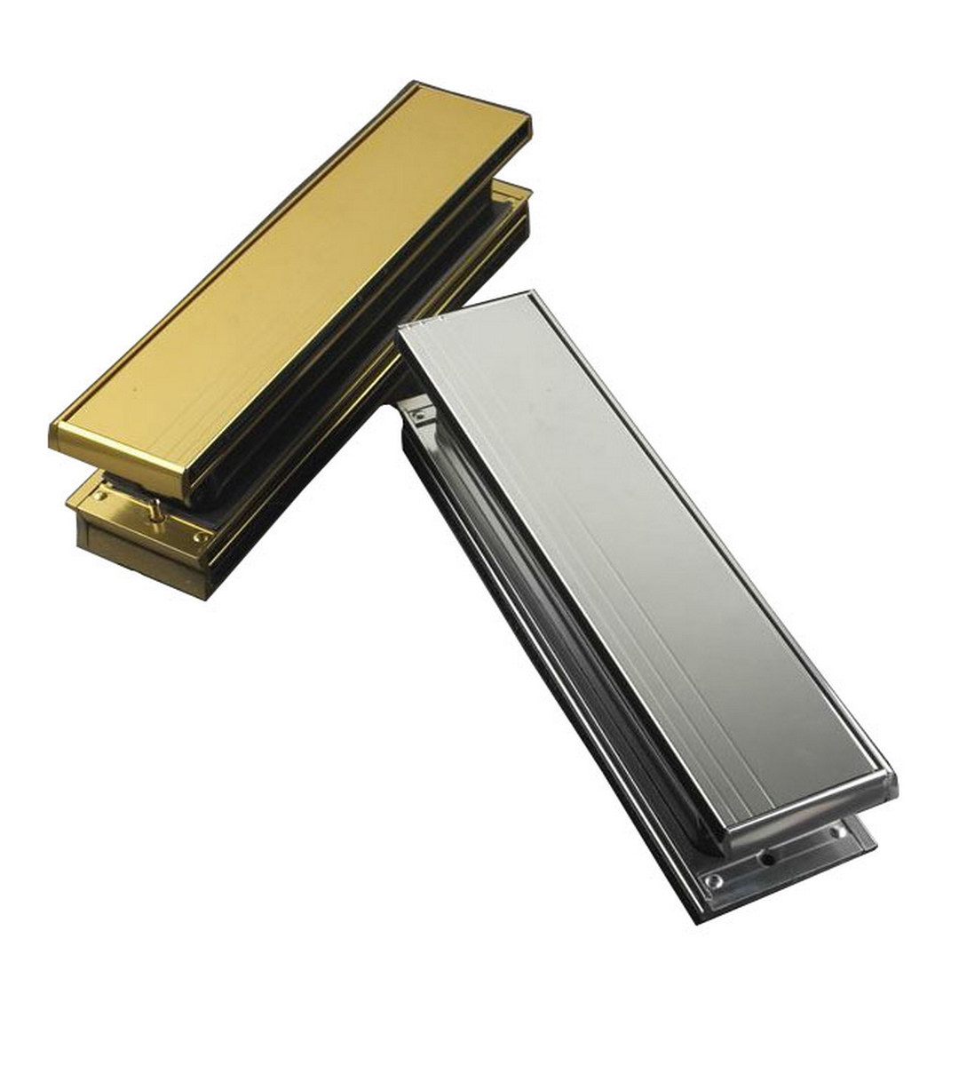 Midrail 40mm 80mm Letter Box Letter Plate MAP UPVC Door 10 Letterbox Letterplate Polished Gold