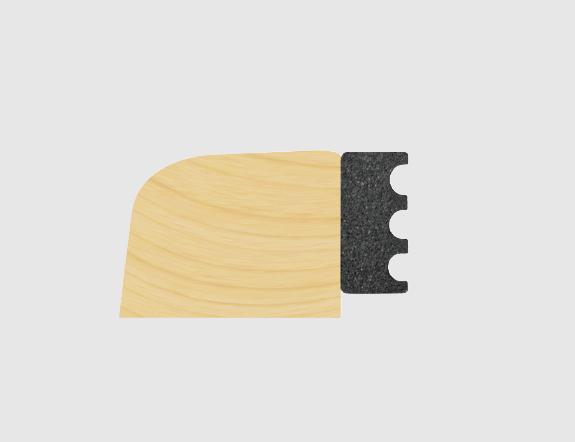 3mm X 9mm Black EPDM Dry Glaze Tape 150M