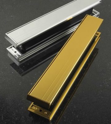 "Yale P203 Slimmaster 12"" Letterplate Gold Anodised"