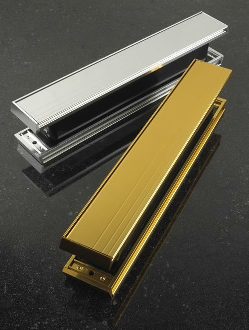 Yale P203 Slimmaster 12 Letterplate Gold Anodised